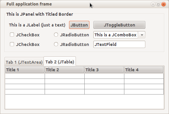 Graphical User Interface (GUI) - Java Swing - WikiLabs